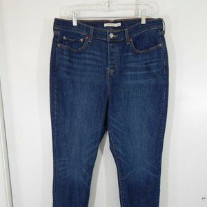 blue LEVIS jeans wedgie skinny button fly 16W